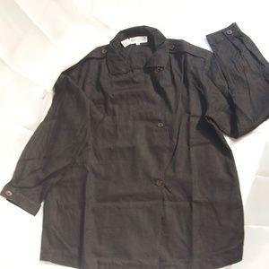Jones New York Pea Coat style Top  Size 10